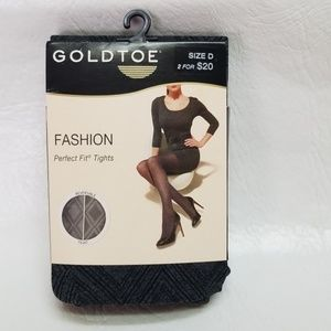 GoldToe Fashion Perfect Fit REVERSIBLE tights D